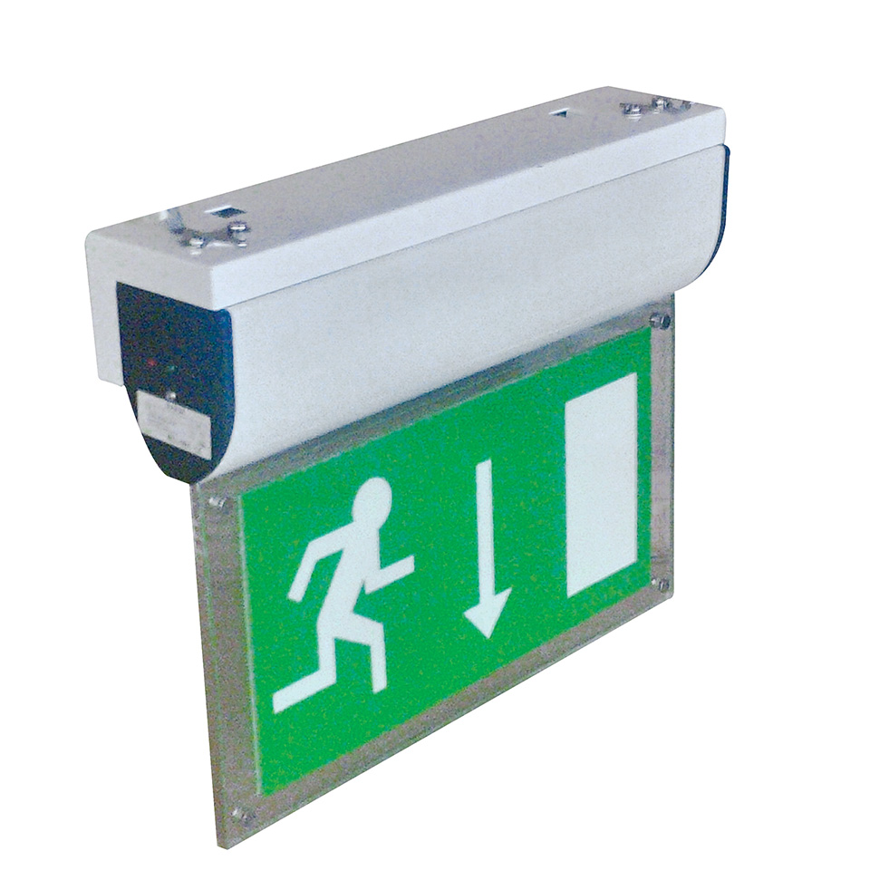 EM-Blade Emergency Exit Sign with Wall Bracket