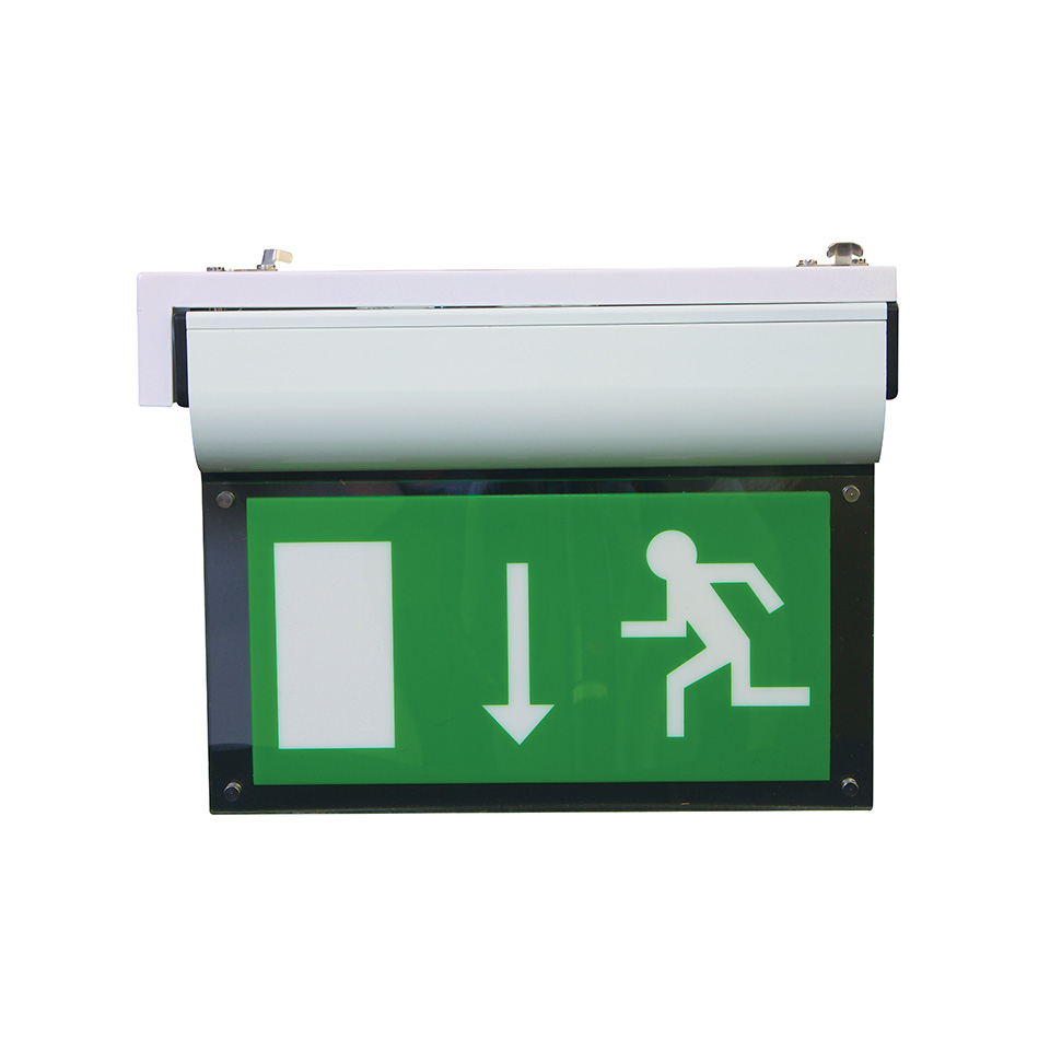 EM-Blade Commercial Emergency Exit Sign with End Bracket