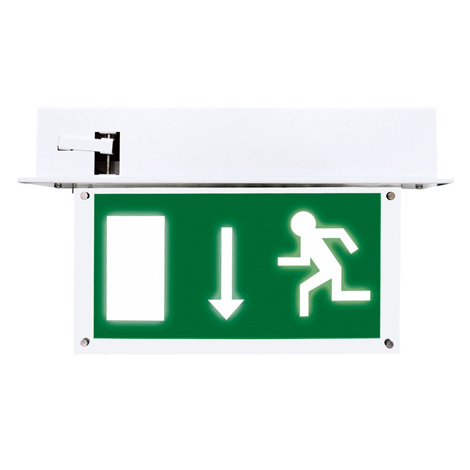 Em-Blade Recessed LED Emergency Exit Sign