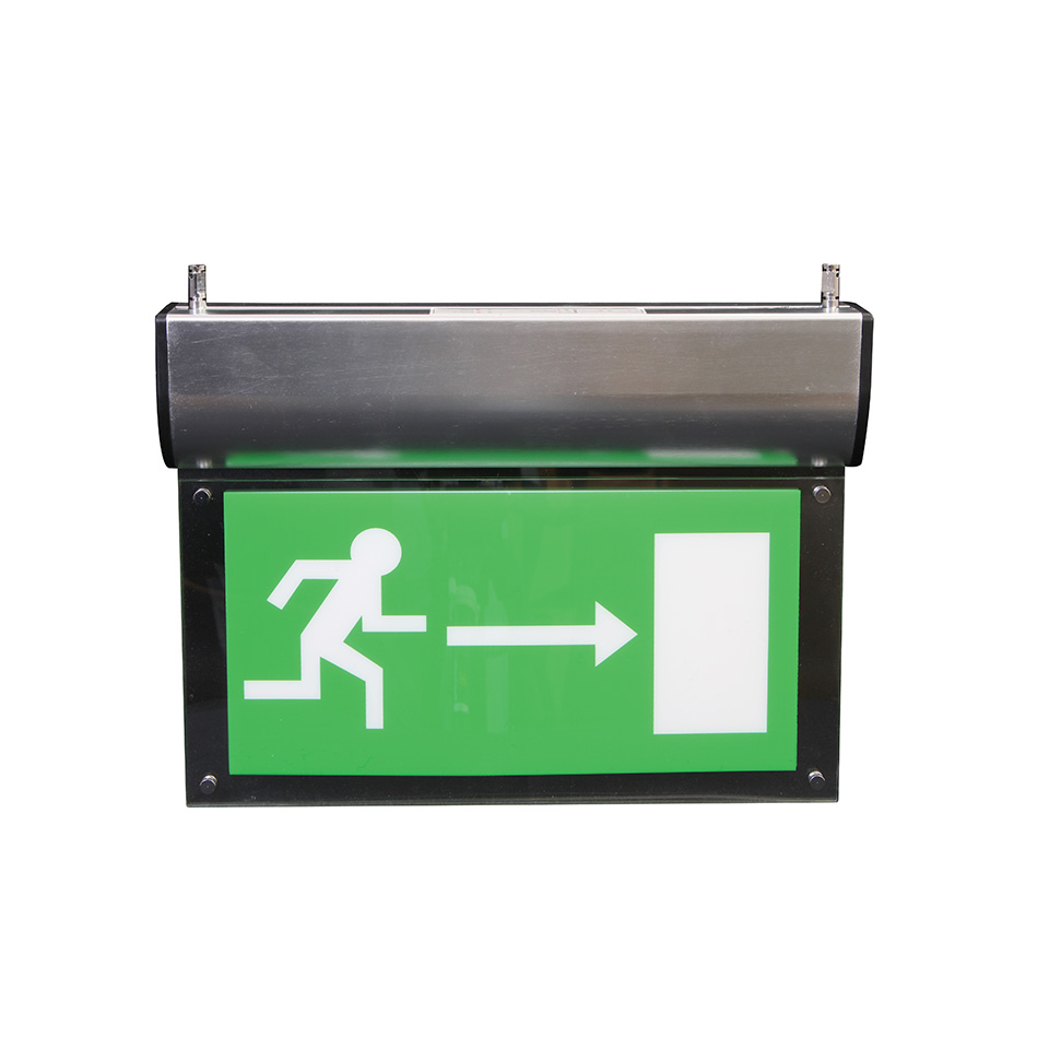EM-Blade Emergency Exit Sign with Wire Suspension