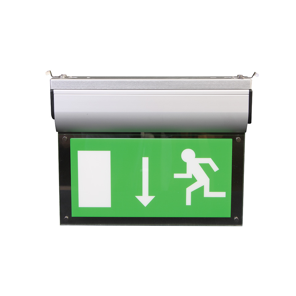 EM-Blade Commercial Emergency Exit Sign with Ceiling Bracket